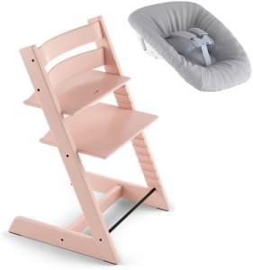 Stokke Tripp Trapp Treppen Hochstuhl inkl. Newborn Set Serene Pink