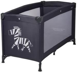 Quax Reisebett 60x120 cm Zebra schwarz inkl. Transporttasche