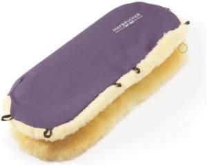 Hofbrucker Lammfell-Handwärmer für Kinderwagen pflaume
