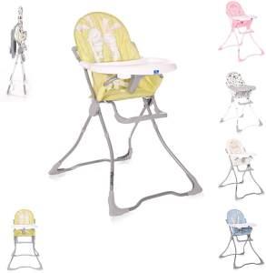 Lorelli Kinderhochstuhl Marcel, klappbar, Bechervertiefung, abwaschbarer Stoff beige gelb