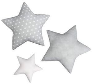 LULANDO Kissen 3er Set grau/weiß
