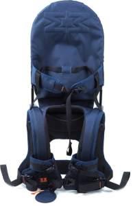 MINIMEIS G4 - Weltweit 1. Baby Schultertrage mit Rückenunterstützung - Faltbares Kinder & Baby Tragesystem für höchsten Komfort & Spaß unterwegs - [6 Monate - 5 Jahre & bis zu 18kg] (Blau/Schwarz)