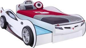 Cilek 'Coupe' Autobett weiß inkl. 2x Matratze 90x190