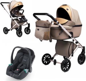 Anex 'e/type' Kombikinderwagen 3 in 1 2020 Truffle inkl. Babyschale Recaro Avan