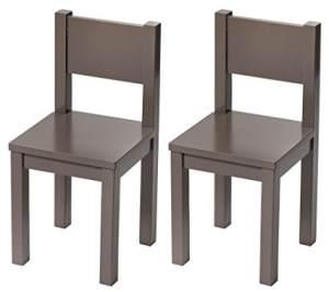 Pioupiou et Merveilles 'Hevea' 2-er Set Kinderstühle taupe