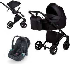 Anex 'e/type' Kombikinderwagen 4 in 1 2020 Noir, inkl. Babywanne und Babyschale Recaro Avan Noir