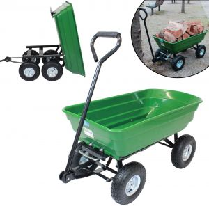 Gartenwagen kippbar 300 kg Transportwagen Handwagen Bollerwagen Anhänger
