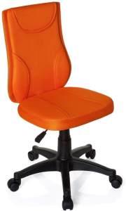 hjh OFFICE 670440 Kinder Schreibtischstuhl KIDDY Base Netz-Stoff Orange Drehstuhl Ergonomisch Höhenverstellbar