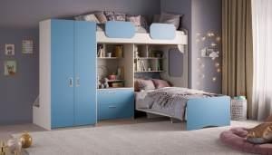 Etagenbett 'Geko XL' blau