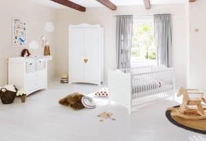 Pinolino 'Florentina' 3-tlg. Babyzimmer-Set weiß