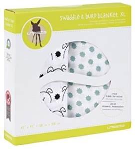 LÄSSIG 'Swaddle & Burp Blanket XL' 2-er Pack Pucktücher Little Chums Dog, mint