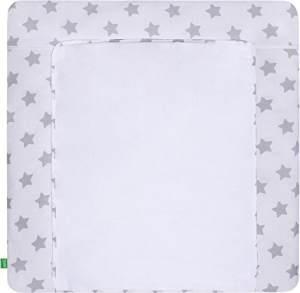 Lulando 'Stars/White' Wickelauflage 76 x 76 cm grau/weiß