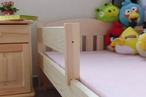 Kinderbettenwelt 'Maja' Kinderbett 70x140 cm, Natur unbehandelt, inkl. Schublade