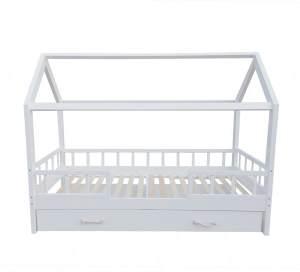 Puckdaddy 'Carlotta' Hausbett mit Unterbett, 90x200 cm, weiß