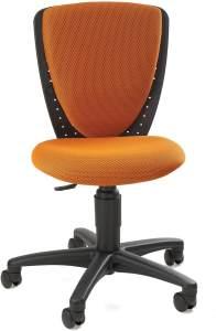 Topstar 70570BB40 High S'cool, Kinder- und Jugenddrehstuhl, Schreibtischstuhl für Kinder, Bezugsstoff orange