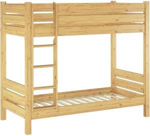 Erst-Holz 'Extra 30' Etagenbett 90x200 cm, natur, Kiefer massiv, inkl. Rollroste