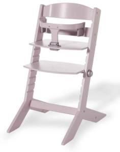 Geuther - mitwachsender Hochstuhl SYT 2337, TÜV geprüft, Sitzbrett verstellbar, Bauchbügel abnehmbar, Babyliege separat erhältlich, rose
