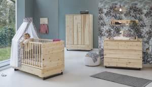 Schardt Zirbenholz 3-tlg. Babyzimmer-Set