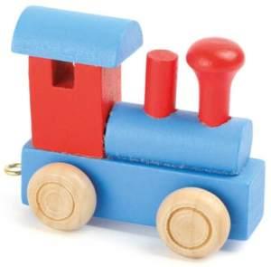 Buchstabenzug Lokomotive rot & blau