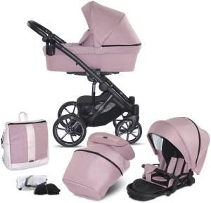 Knorr Baby 'SAIPAN' Kombikinderwagen 2 in 1 Altrosa inkl. Sitz, Babywanne, Wickeltasche und Wetterschutz