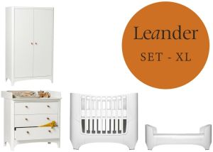 Leander Classic Baby- und Jugendzimmer XL-Set Weiß