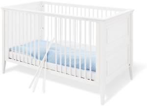 Pinolino 'Smilla' Kombi-Kinderbett 70x140 cm, weiß, 3-fach höhenverstellbar, Schlupfsprossen
