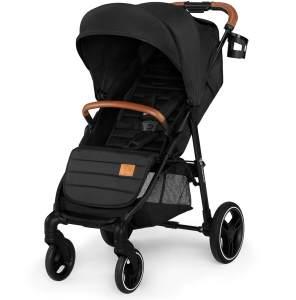Kinderkraft 'GRANDE' Sportkinderwagen 2020 Black inkl. Getränkehalter, Regenverdeck und Fußsack