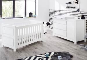 Pinolino 'Milk' 2-tlg. Babyzimmer-Set weiß, breit