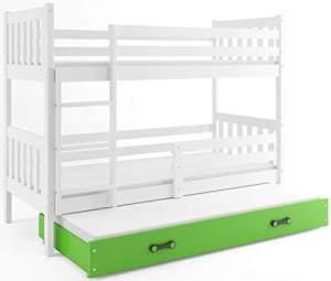 Interbeds 'CARINO 3' Etagenbett weiß/grün 80x190cm