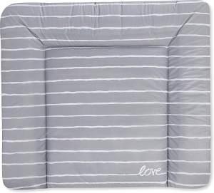 Julius Zöllner 2220129320 Wickelauflage Softy 75x85 cm, Standard 100 by Oeko-Tex, Grey Stripes, grau, 800 g