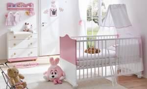 Ticaa 'Prinzessin' 3-tlg. Babyzimmer-Set Rosa-Weiß
