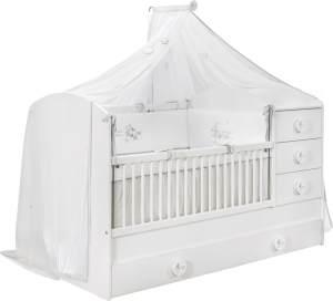 Cilek 'BABY COTTON XL' Babybett weiß mit Zubehör