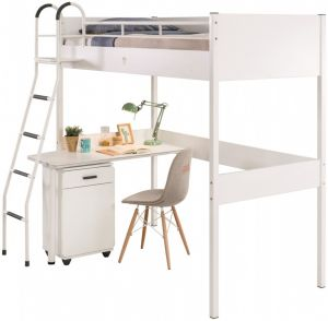 Cilek Compact Hochbett mit Schreibtisch in Weiß
