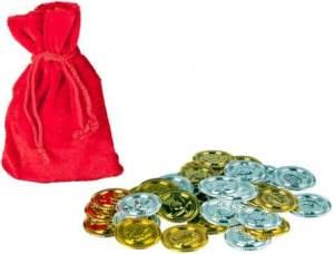 Piratenmünzen - 36 Stück