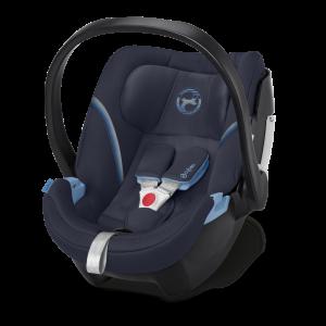 CYBEX 'Aton 5' Babyschale 2020 Navy Blue von 0 bis 13 kg (Gruppe 0+) Isofix