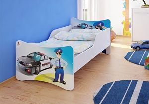 Best for Kids 'Police' Kinderbett inkl. Schaummatratze 70 x 140 cm