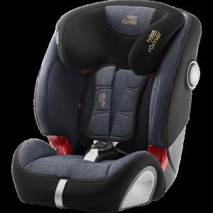 Britax Römer Kindersitz 9 Monate - 12 Jahre I 9 - 36 kg I EVOLVA 123 SL SICT Autositz Isofix Gruppe 1/2/3 I Blue Marble