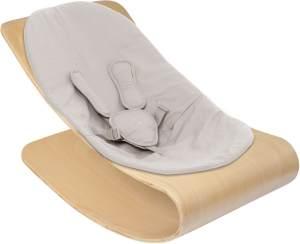 Bloom Coco Stylewood Babywippe + Sitzeinlage Frame Natural Kissen Forst Grey Organic