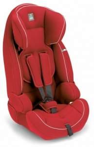 CAM 'Le Mans' Kindersitz Gruppe 9-36 kg Rot / Weiße Nähte