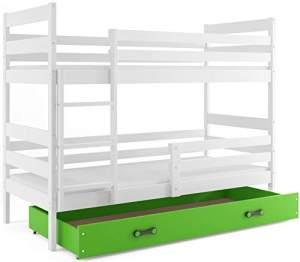 Interbeds 'Eryk' Etagenbett weiß/grün 80x160cm