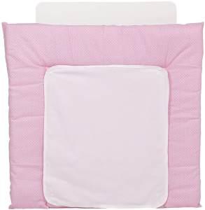 Polini Kids 'Zickzack' 2-seitige Wickelauflage, grau-rosa, 77x72 cm
