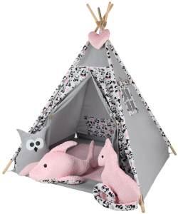 Kinderspielzelt Tipi Fadaa Spielzelt Zelt Megaset 5 Modelle Mädchen Junge by ChillyKids Panda Bear 01