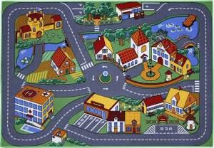 Kinderteppich 'Quiet Town Spielstrasse' 95x133 cm