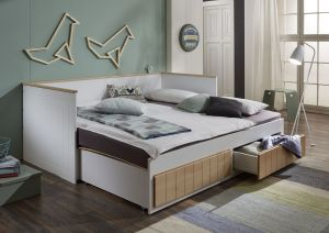 Relita 'Timmi' Einzelbett weiß, inkl. 2 Schubladen, 90/180x200 cm