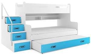 Interbeds 'MAX 3' Etagenbett weiß/blau