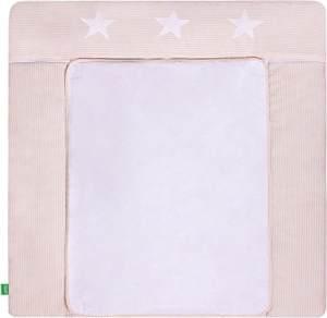 LULANDO 'Stripes - Stars' Wickelauflage 75 x 80 cm beige