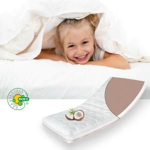 ALCUBE Babymatratze Kindermatratze ECO aus Kokos und Kaltschaum / Atmungsaktive Kokos-Matratze für Babybett oder Kinderbett 70x140 cm mit Trittkante