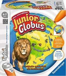"""Ravensburger tiptoi 00785 - """"Mein interaktiver Junior Globus"""" / Spiel von Ravensburger ab 4 Jahren / Entdecke spielerisch die Kontinente!"""