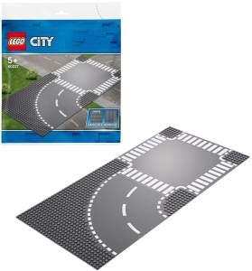 LEGO City 60237 'Kurve und Kreuzung', 2 Teile, ab 5 Jahren, perfekte Ergänzung für deine übrigen LEGO City Sets