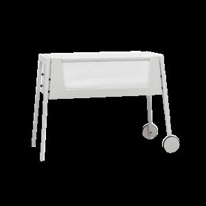Leander 'Linea by Side-by-Side' Beistellbett weiß inkl. Matratze und Nestchen